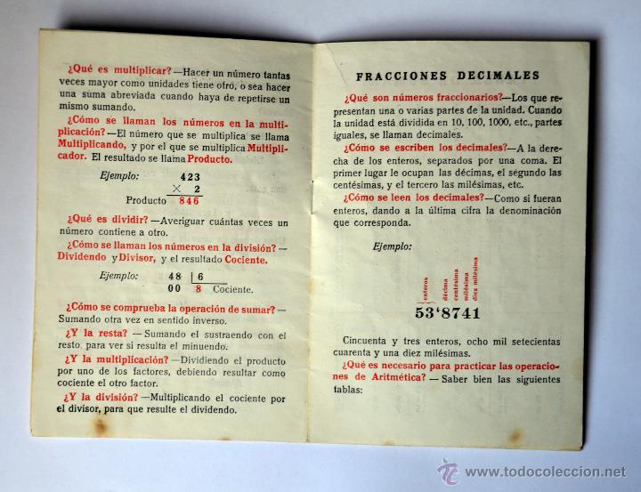 Libros: CURIOSO CUADERNILLO DE NOCIONES Y TABLAS DE ARITMÉTICA. EDITORIAL SANCHEZ RODRIGO AÑO 1978 - Foto 2 - 49743276