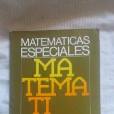 Libros: LIBRO DE MATEMATICAS ESPECIALES FP2 EDITORIAL CEDED AÑOS 1985 LIBRERÍA ANTIGUA A ESTRENAR. Lote 56224663