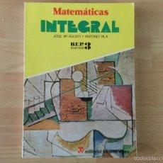 Livres: MATEMÁTICAS INTEGRAL 3* BUP. VICENS VIVES.. Lote 60445091