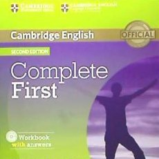 Libros: COMPLETE FIRST FOR SPANISH SPEAKERS WORKBOOK WITH ANSWERS WITH AUDIO CD 2ND EDITION. Lote 70742425