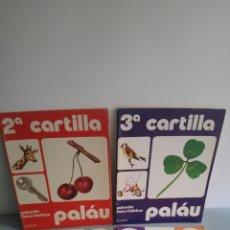 Libros: LOTE 4 CARTILLAS PALAU 1979 Y 1983. Lote 101858086