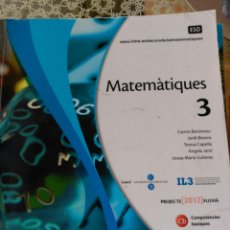 Libros: LLIBRE MATEMATIQUES 3 ESO MAC GRAW HILL. Lote 92383098