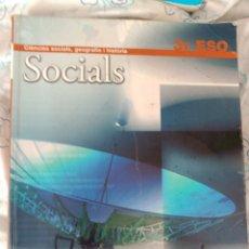 Libros: SOCIALS - BARCANOVA 3 ESO. Lote 92723788