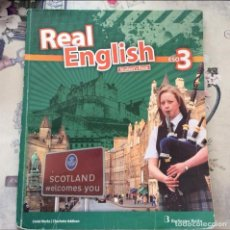 Libros: REAL ENGLISH STUDENT' S BOOK. ESO 3. Lote 92821020