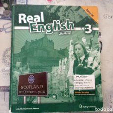 Libros: REAL ENGLISH WORKBOOK DBH 3 ( BASQUE ). Lote 92840650