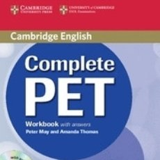 Libros: COMPLETE PET WORKBOOK WITH ANSWERS WITH AUDIO CD CAMBRIDGE UNIVERSITY PRESS. Lote 96116460