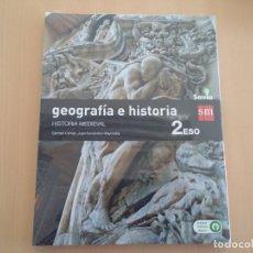 Libros: ISBN 9788467586657 GEOGRAFIA E HISTORIA 2ºESO (NUEVO SIN USAR)(PRECINTADO). Lote 101569303