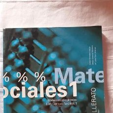 Libros: MATEMÁTICAS APLICADAS CIENCIAS SOCIALES 1 BACHILLERATO. Lote 103013251