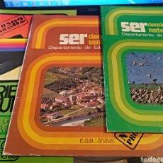 Libros: TRES LIBROS DE PROGRAMAS EGB AÑO 82. Lote 106144308