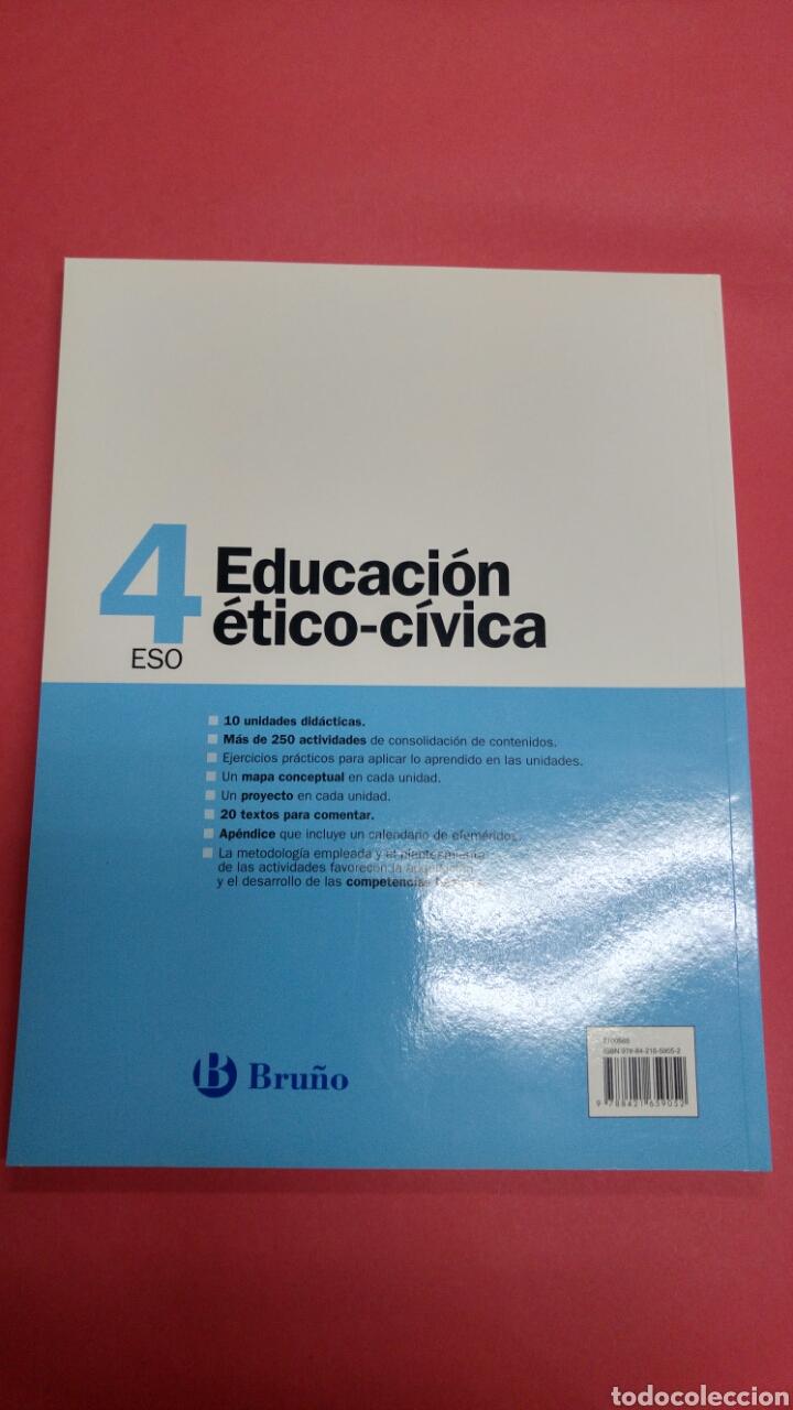 Libros: Educación ético-cívica 4ESO BRUÑO. NUEVO A ESTRENAR - Foto 2 - 116677786