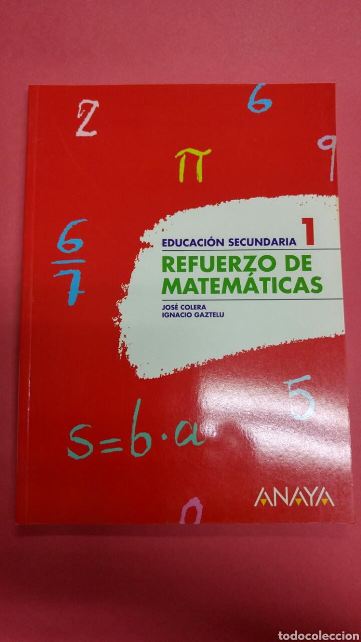 REFUERZO MATEMÁTICAS 1 ESO ANAYA. NUEVO A ESTRENAR (Libros Nuevos - Libros de Texto - ESO)