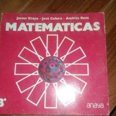 Libros: MATEMÁTICAS 3 DE ANAYA 29 TEMAS 316 PAGINAS AÑO 1977. Lote 117429802