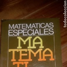 Libros: LIBRO MATEMÁTICAS ESPECIALES FP EDITORIAL CEDED AÑO 1978. Lote 117430647