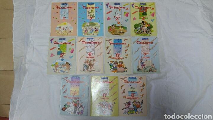 COLECCIÓN COMPLETA 11 LIBROS PERFECTOS DE VACACIONES EGB ANAYA 1987 NUEVOS A ESTRENAR. (Libros Nuevos - Libros de Texto - Infantil y Primaria)