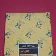 Livres: LIBRO LENGU 5° EGB ANAYA 1988 NUEVO A ESTRENAR. Lote 120450888