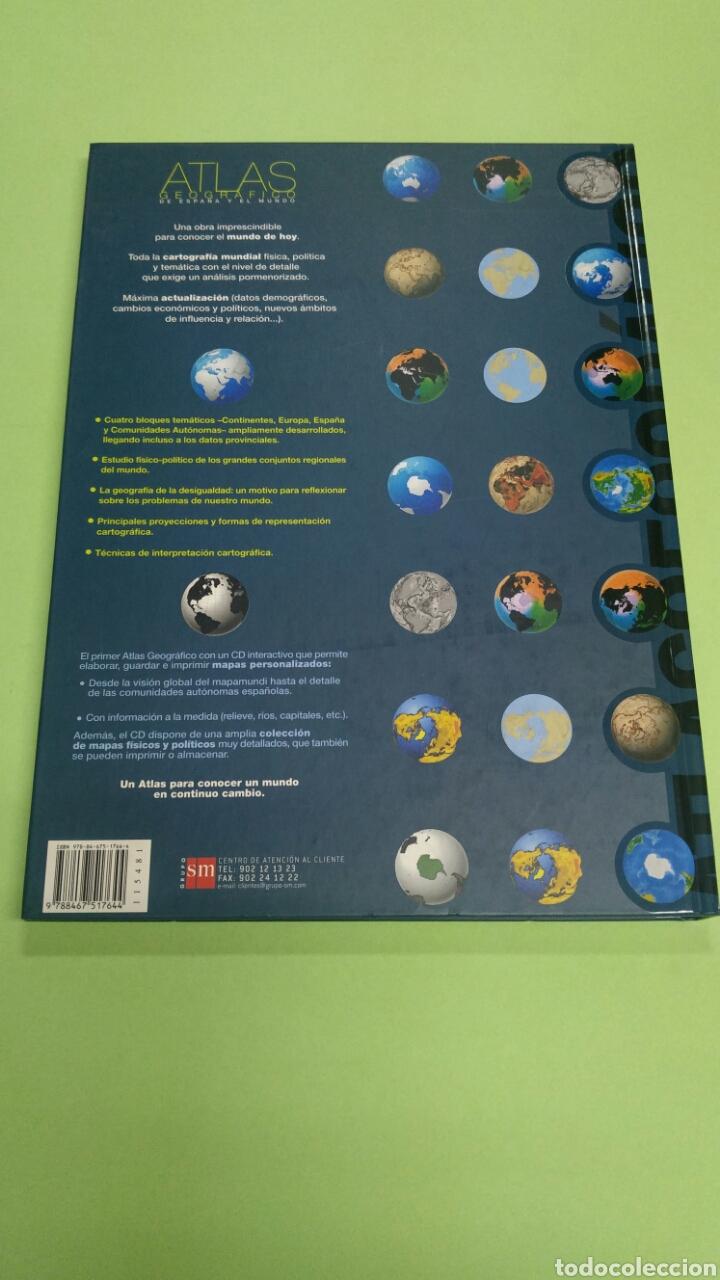 Libros: Atlas geográfico de España y el mundo SM NUEVO A ESTRENAR 2008 - Foto 2 - 121022816