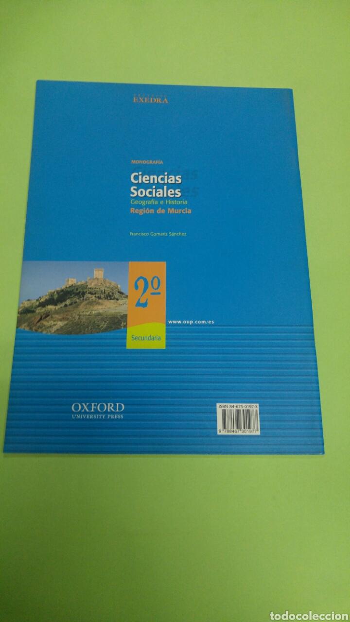 Libros: Ciencias sociales monografía Región de Murcia 2°ESO OXFORD - Foto 2 - 252113440