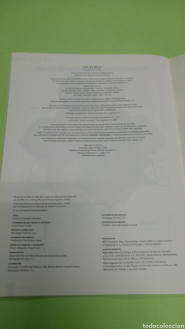 Libros: Ciencias sociales monografía Región de Murcia 2°ESO OXFORD - Foto 3 - 252113440
