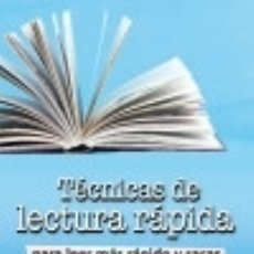 Libros: TÉCNICAS DE LECTURA RÁPIDA. Lote 67913087