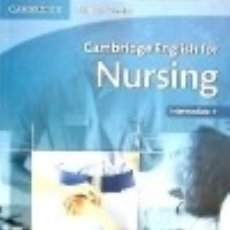 Libros: CAMBRIDGE ENGLISH FOR NURSING STUDENT'S BOOK WITH AUDIO CDS (2). Lote 74064483