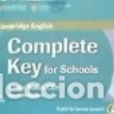Libros: COMPLETE KEY FOR SCHOOLS ENGLISH FOR SPANISH SPEAKERS : CLASS AUDIO CDS. Lote 101335892