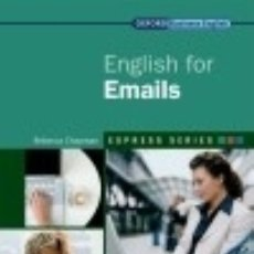 Libros: ENGLISH FOR EMAILS. Lote 93741128