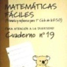 Libros: MATEMÁTICAS FÁCILES 19. PRIMARIA. Lote 70725209