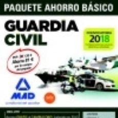 Libros: PAQUETE AHORRO BÁSICO GUARDIA CIVIL 2018. Lote 128243298