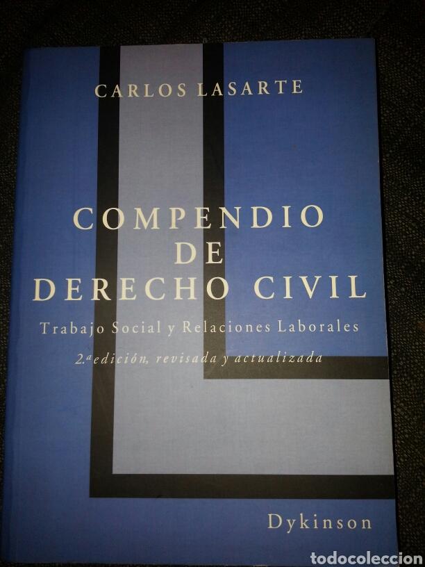 COMPENDIO DE DERECHO CIVIL 2005. CARLOS LASARTE. (Libros Nuevos - Libros de Texto - Ciclos Formativos - Grado Superior)