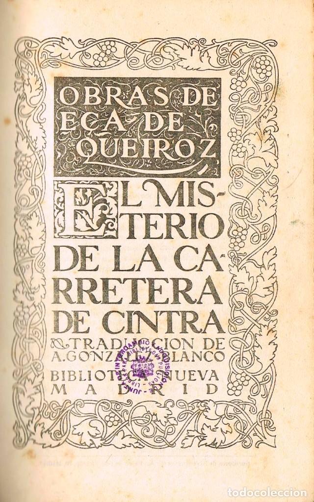 Libros: el misterio de la carretera de Cintra - Foto 2 - 131093108