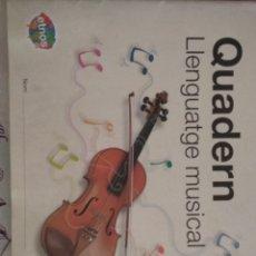 Libros: QUADERN LLENGUATGE MUSICAL 5. EDEBÉ. Lote 132719646