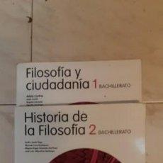 Libros: LIBROS DE TEXTO DE FILOSOFIA Y CIUDADANIA E HISTORIA DE LA FILOSOFIA (1 Y 2 BACHILLERATOSANTILLANA). Lote 149143374