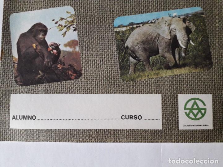 Libros: ANTIGUO CUADERNO DE ESCUELA / ANIMALES / EN COLOR / MITICOS DE LOS AÑOS 70-80 / NUEVOS!!!!!! - Foto 2 - 133590838