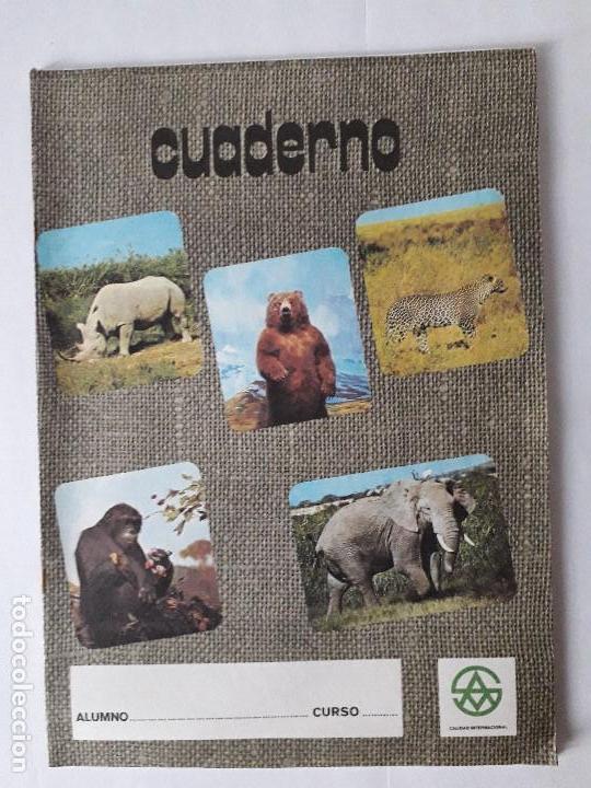 ANTIGUO CUADERNO DE ESCUELA / ANIMALES / EN COLOR / MITICOS DE LOS AÑOS 70-80 / NUEVOS!!!!!! (Libros Nuevos - Libros de Texto - ESO)