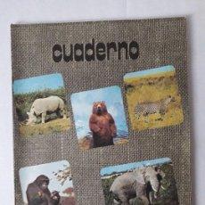 Libros: ANTIGUO CUADERNO DE ESCUELA / ANIMALES / EN COLOR / MITICOS DE LOS AÑOS 70-80 / NUEVOS!!!!!!. Lote 133590838