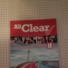 Libros: ALL CLEAR 1º ESO STUDENT´S BOOK (EDITORIAL MACMILLAN). Lote 134129418