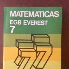 Libros: MATEMÁTICAS 7º EGB. EVEREST. Lote 135514334