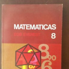 Libros: MATEMÁTICAS 8º EGB. EVEREST. Lote 135514534