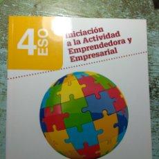 Livres: INICIACION A LA ACTIVIDAD EMPRENDEDORA Y EMPRESARIAL. 4 DE ESO. ANAYA. Lote 137339301