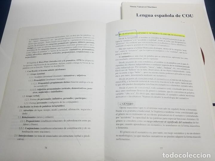 Libros: LENGUA ESPAÑOLA DE COU. SIMÓN VALCARCEL MARTÍNEZ. EDITORIAL TAMBRE - Foto 3 - 215549498