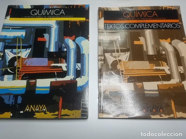 QUÍMICA DE COU. J.MORCILLO RUBIO, M. FERNÁNDEZ GONZÁLEZ. ANAYA (Libros Nuevos - Libros de Texto - Bachillerato)