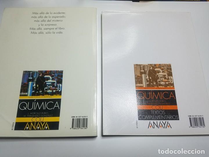 Libros: QUÍMICA DE COU. J.MORCILLO RUBIO, M. FERNÁNDEZ GONZÁLEZ. ANAYA - Foto 2 - 139577462