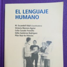 Livres: EL LENGUAJE HUMANO UNED. Lote 140492910