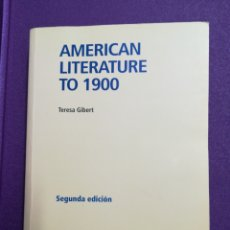 Libros: AMERICAN LITERATURE TO 1900 UNED. Lote 140493318