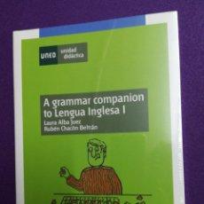 Libros: A GRAMMAR COMPANION TO LENGUA INGLESA 1 UNED. Lote 140493824