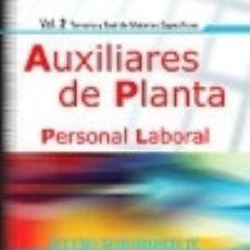 Libros: PERSONAL LABORAL DE LA DIPUTACIÓN PROVINCIAL DE SORIA. AUXILIARES DE PLANTA (TEMARIO Y TEST DE. Lote 142597456