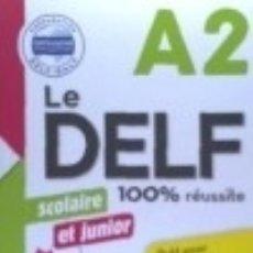 Libros: 100% DELF JUNIOR SCOLAIRE A2 LIVRE+CD. Lote 142840466
