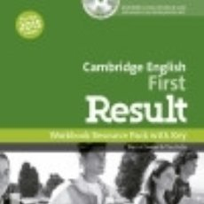 Libros: FIRST RESULT WORKBOOK WITH KEY EXAM CD-R PACK 2015 EDITION. Lote 142841030