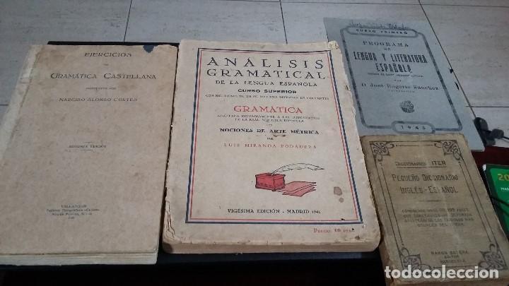 LOTE 4 ANTIGUOS LIBROS LENGUA Y LITERATURA ESPAÑOLA,1920,1933,1941,1945 (Libros Nuevos - Libros de Texto - Ciclos Formativos - Grado Superior)