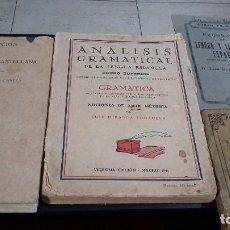 Libros: LOTE 4 ANTIGUOS LIBROS LENGUA Y LITERATURA ESPAÑOLA,1920,1933,1941,1945. Lote 148178058